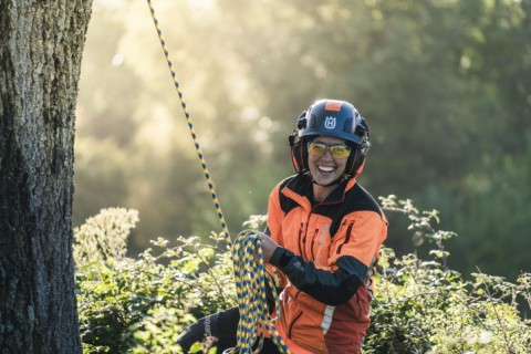 "Introducing The New Husqvarna ""SPIRE™ Vent"" Arborist Helmet"